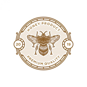 Honey product logo label design