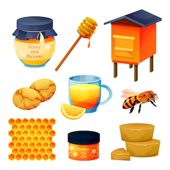 Honey products and beekeeping set
