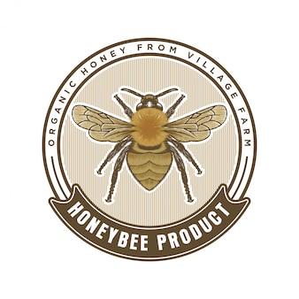 Honey products or honey bee farms logo