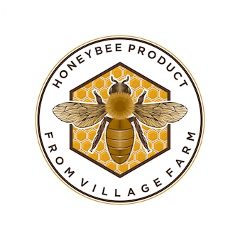 Honey products or honey bee farms logo