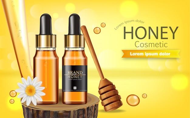 Honey serum bottle banner
