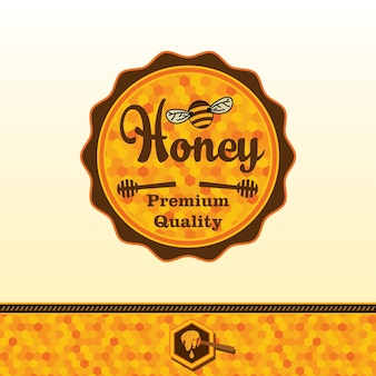 Honey sticker.