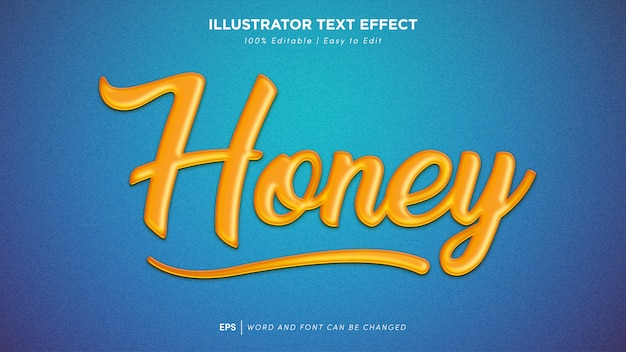 Honey text effect editable font