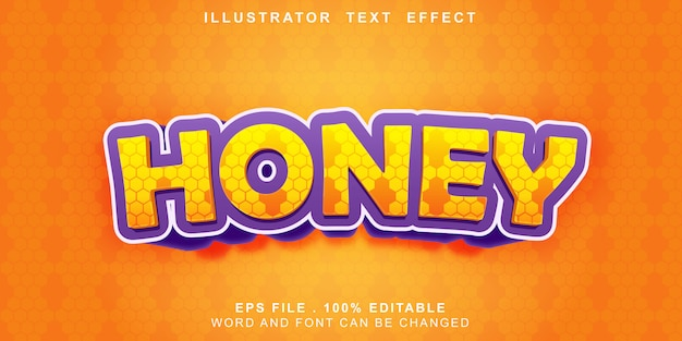 Honey text effect editable