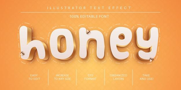 꿀 텍스트 효과 글꼴 스타일
