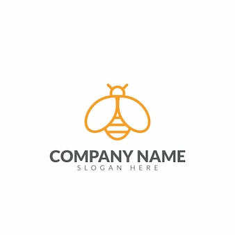 Honeybee logo design vector template