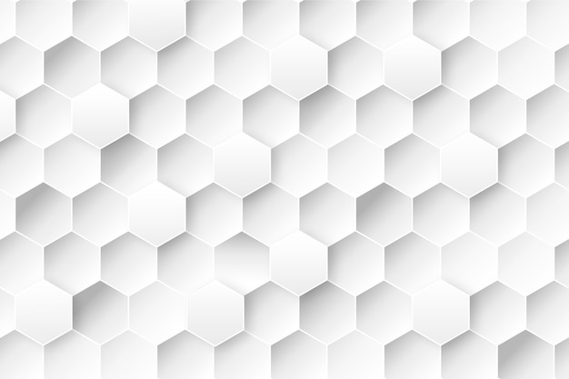 Honeycomb background in 3d paper style