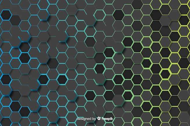 Honeycomb background with gradient