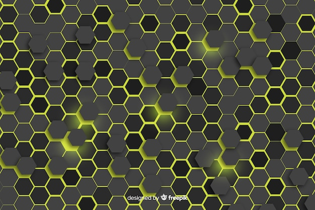 Honeycomb background with lights