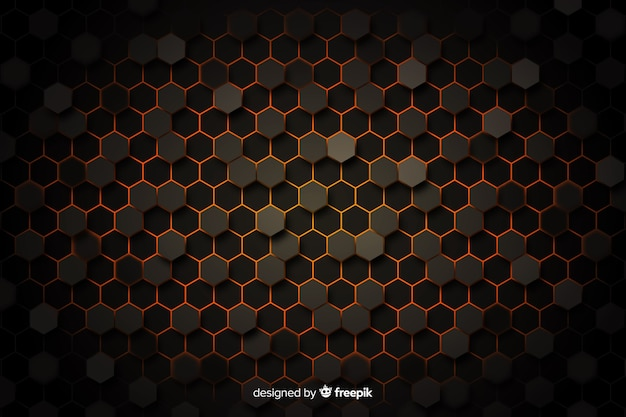 Honeycomb background with vignette
