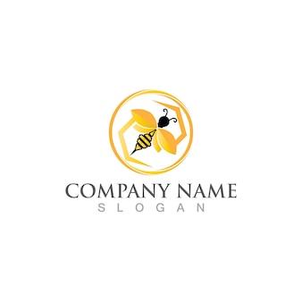 Honeycomb bee  logo and symbol vector image