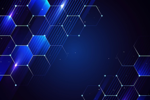 Honeycomb dark blue copy space digital background