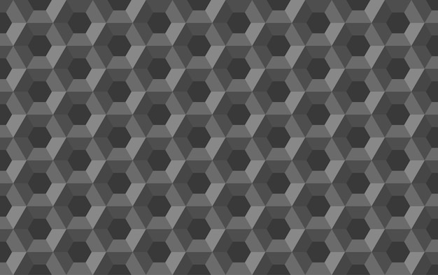Honeycomb hexagon abstract seamless pattern
