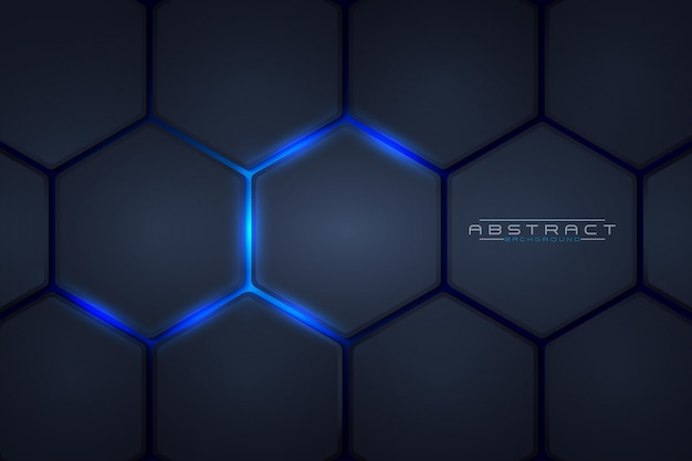 Honeycomb light blue style abstract background