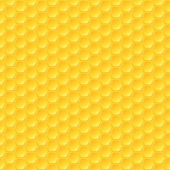 ハニカムシームレスパターン Premiumベクター