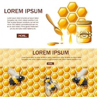 Honeycomb with honey drops. sweet honey, logo for shop or bakery. website page and mobile app .   illustration on white background Premium Vector