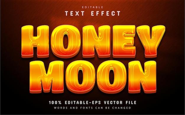 Honeymoon text effect editable