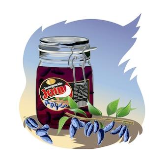 Honeysuckle jam in the jar.