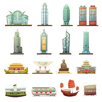 Hong kong city landmarks