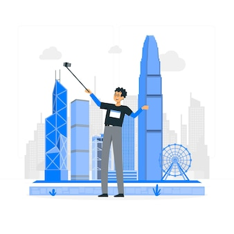 Hong kongconcept illustration