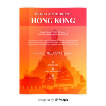 Hong kong flyer template