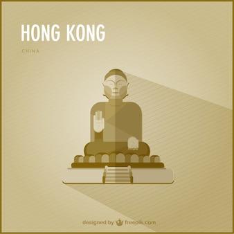 Hong kong punto di riferimento vettoriale