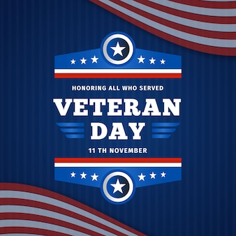 Honouring all who served flat veterans day