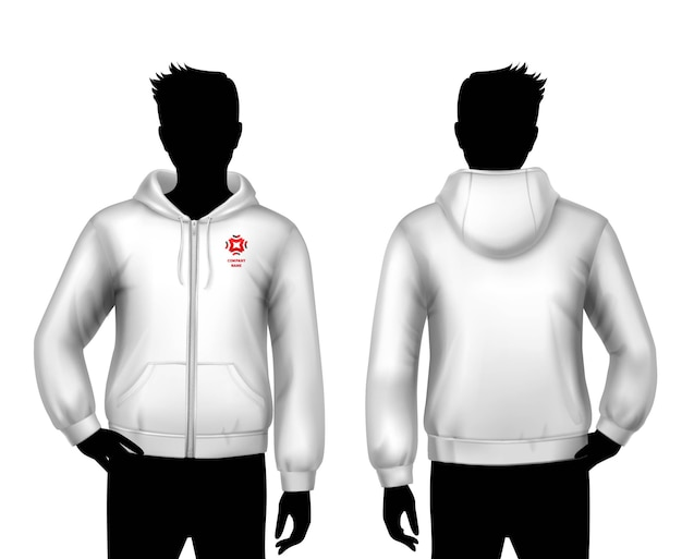 Hooded sweatshirt template
