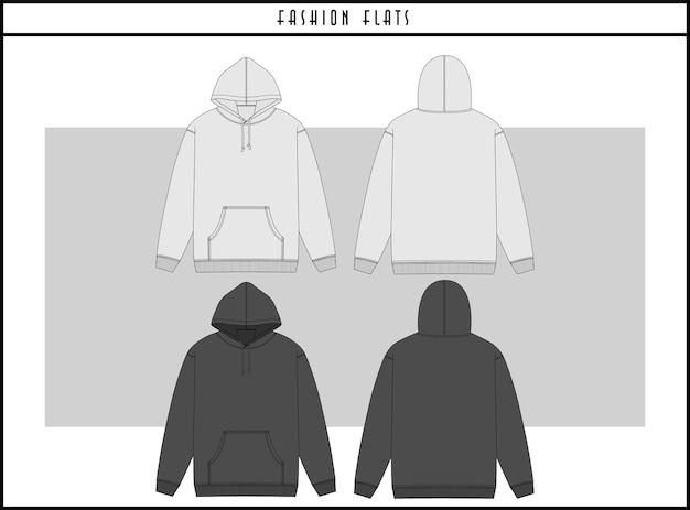 Hoodie fashion flat illustration design