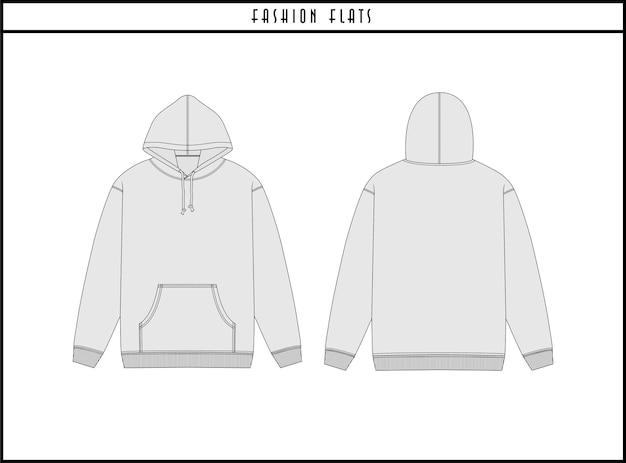 Hoodie fashion flats