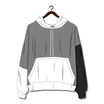 Hoodie jacket isolated on white background mockup template