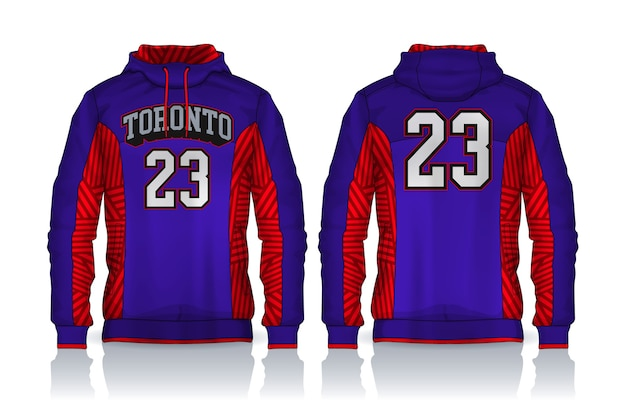 까마귀 셔츠 template.jacket 디자인, 스포츠웨어 트랙 전면 및 후면보기.