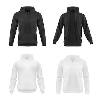 男性または女性のためのパーカー、スウェットシャツのモックアップ