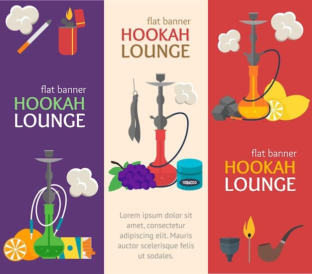Hookah banner vertical set