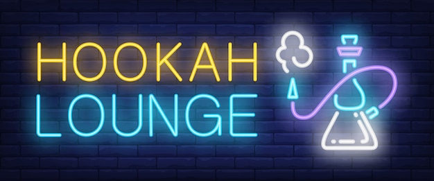 Hookah lounge neon sign