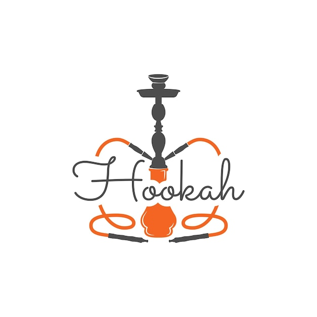 Hookah relax label, badge. vintage shisha logo. lounge cafe emblem. arabian bar or house, shop. isolated. print on t-shirts etc. stock vector illustration.
