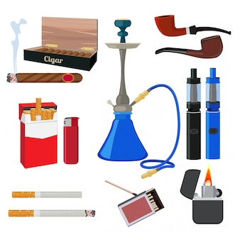 Hookah, tobacco, cigarette and other different tools for smokers