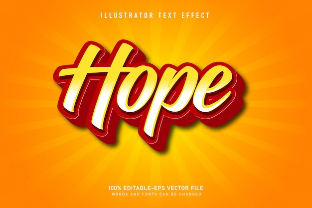 Hope text effect