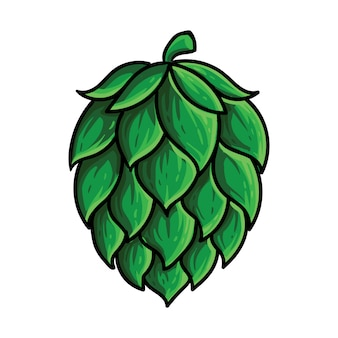 Hops fruit beer brewing