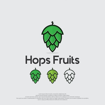 Hops fruits icon vector