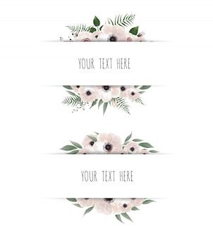 Horisontal botanical vector design banner.