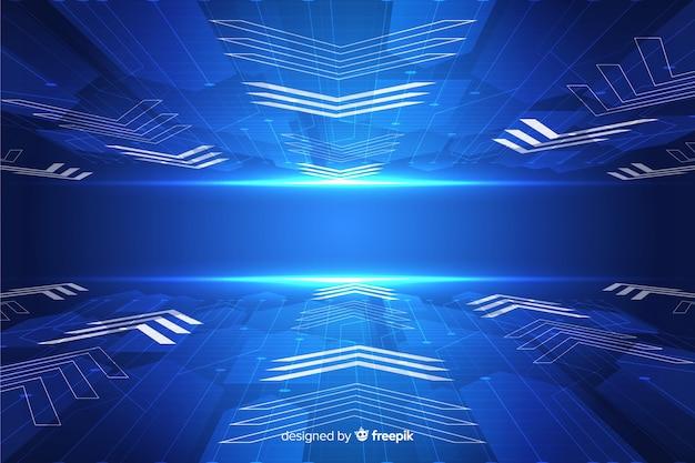 Horizon futuristic background