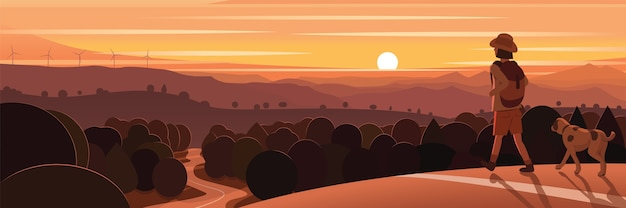 Horizon landscape natural scenery