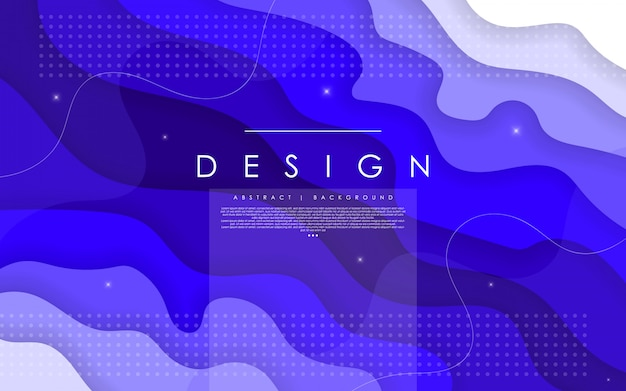 Horizontal abstract background and paper cut shapes.