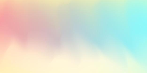 수평 추상 파스텔 컬러 홀로그램 배경 디자인