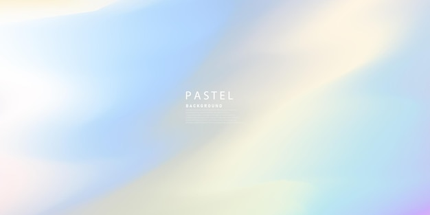 Horizontal abstract pastel color hologram background design