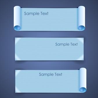 紙のバナーセットの水平建築空白の正方形のシート