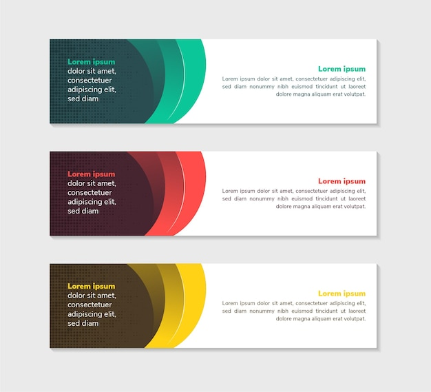 Horizontal background green red and yellow gradient colors website banner web layout ad