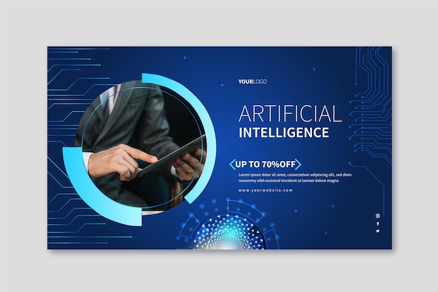 Horizontal banner for artificial intelligence science
