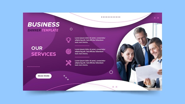 Horizontal banner for business services